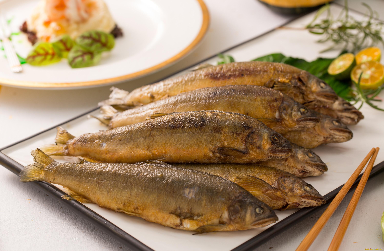 Блюдо из жареной рыбы в картинках